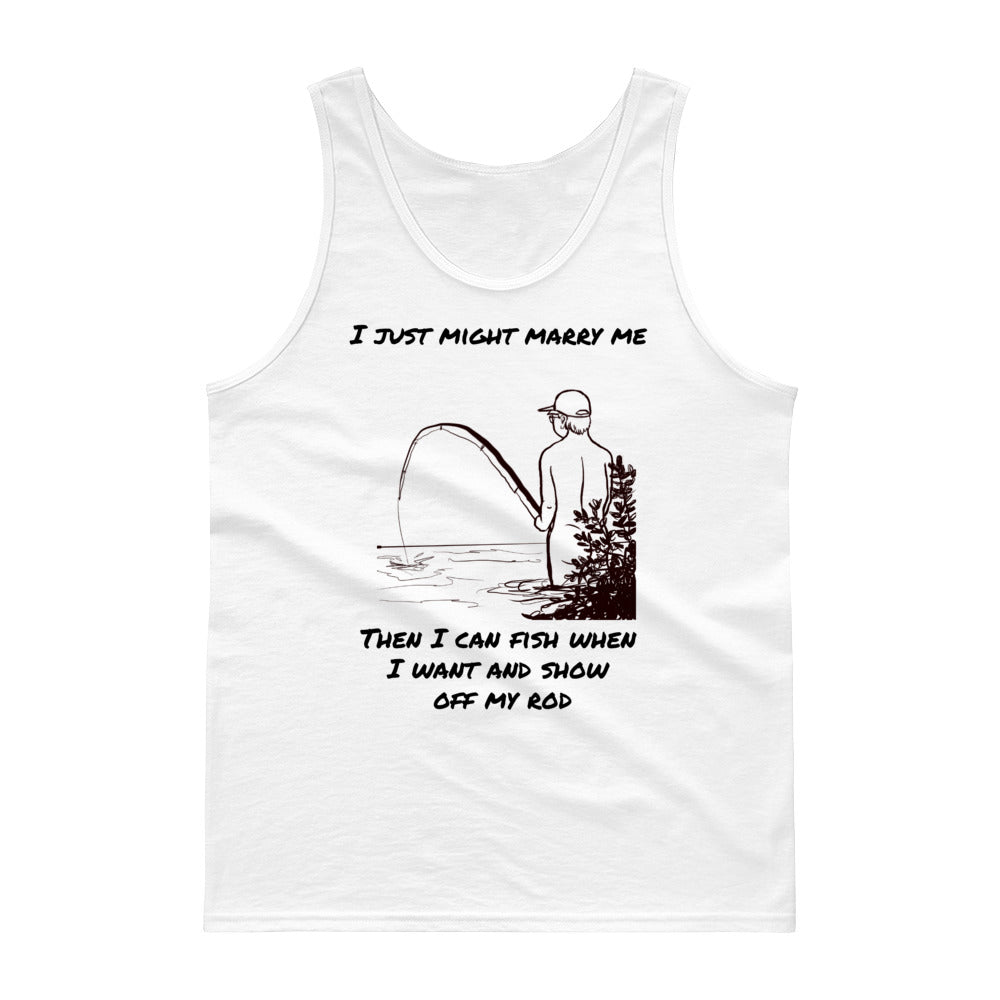 . Fishing rod Tank top
