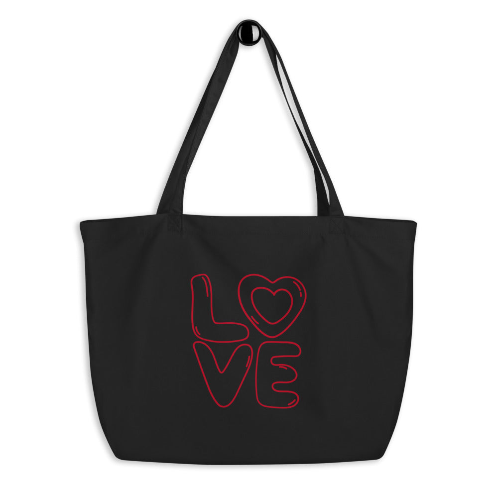 Love Large organic tote bag
