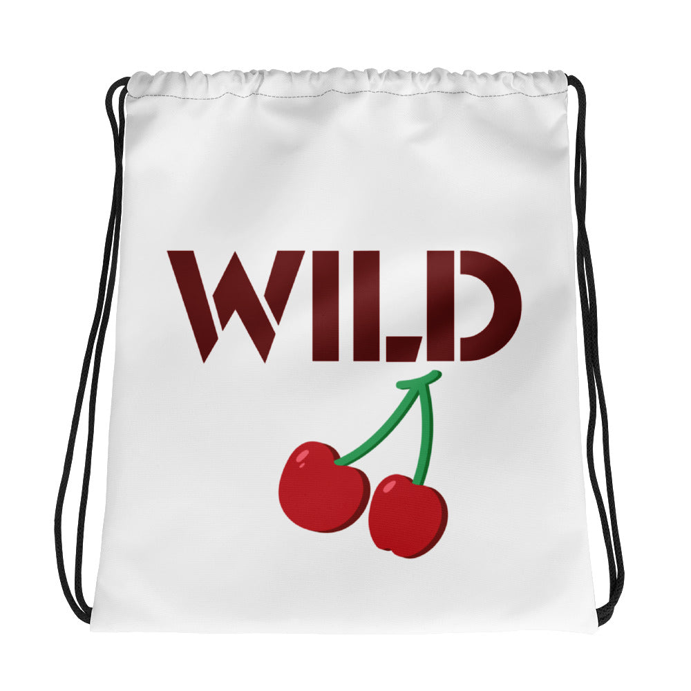 Wild cherry Drawstring bag