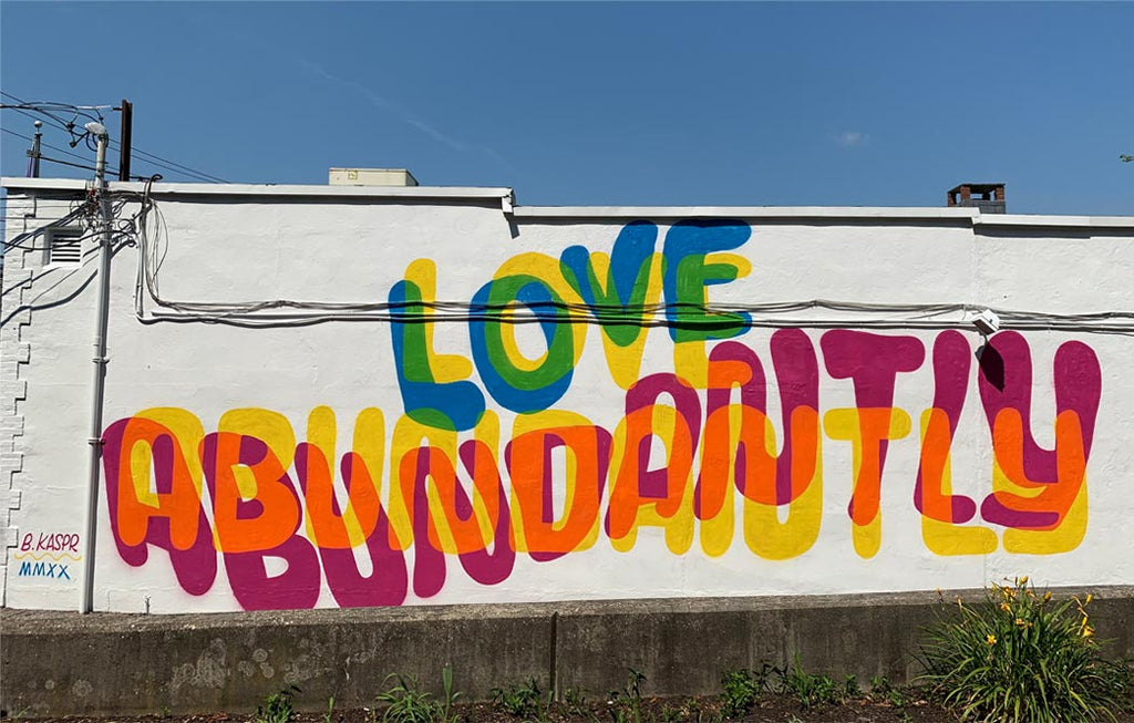 """Love Abundantly"" – Mural by Brian Kaspr"