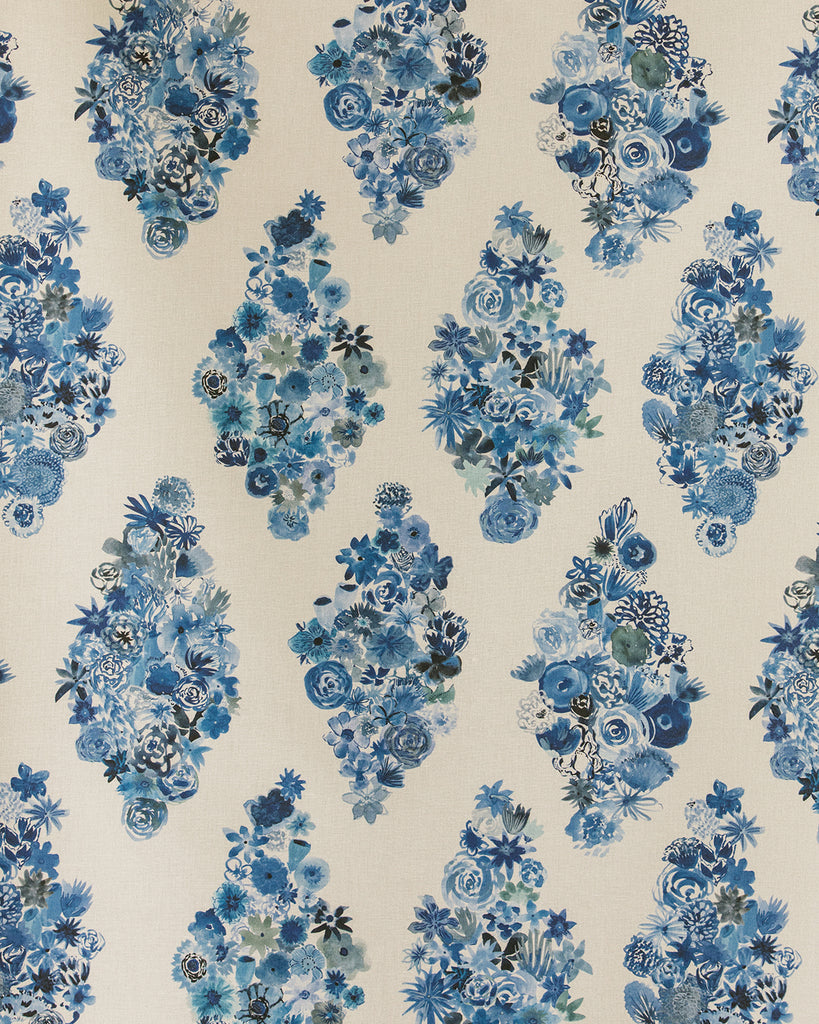 Flora - Casbah Blue Fabric