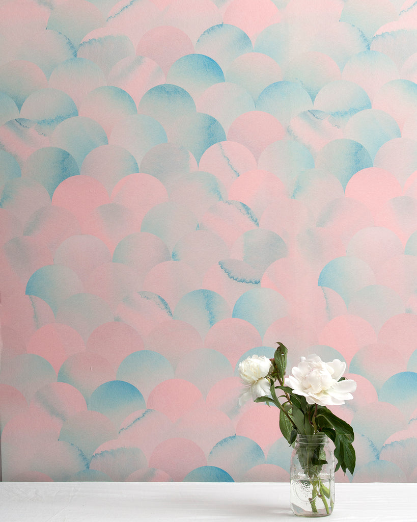 Finisterra - Pacific Pink Wallpaper