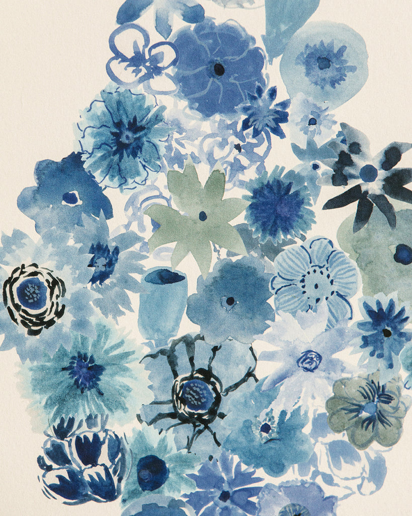 Flora - Casbah Blue Wallpaper