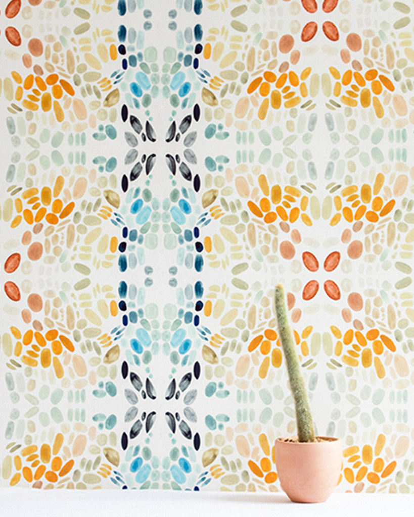 Painted Lady - Sea Sage Wallpaper