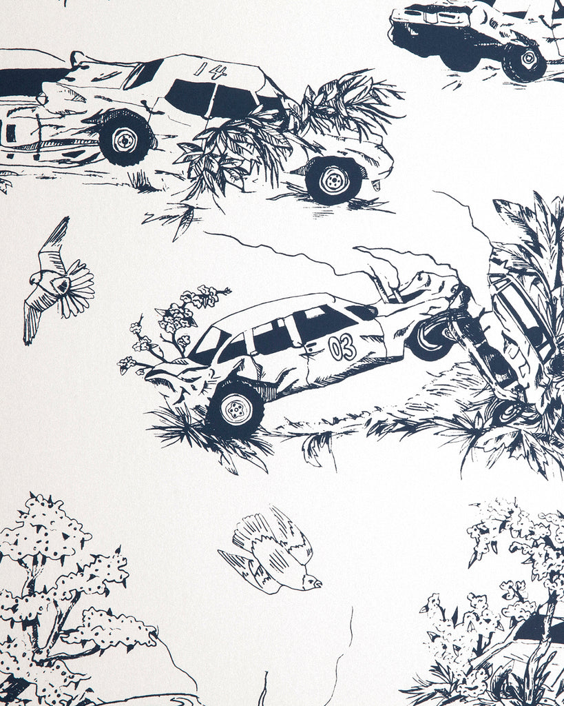 Toile de Derby - Driver's Door Wallpaper