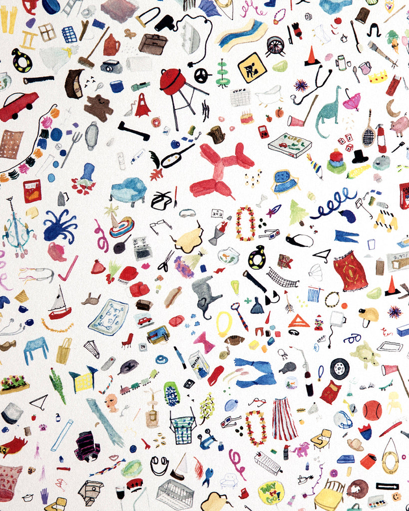 Too Much Stuff Watercolor Object Wallpaper