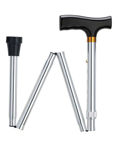 Simply Solid Folding Cane in Black, Silver, Blue or Bronze