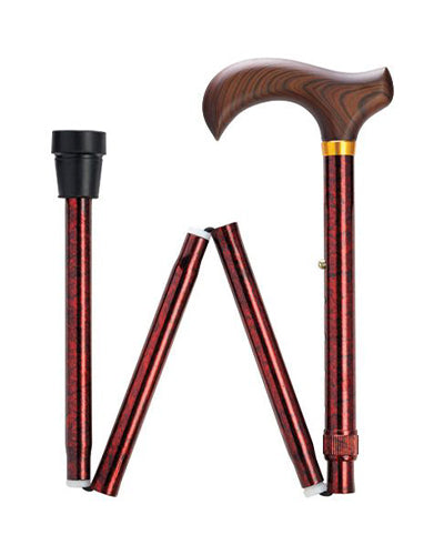 Granite Series Folding Canes - 5 Colors - Red, Green, Black, Blue or Purple