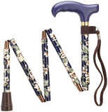 Mini-Folding Adjustable Canes - 6 Colors - Black, Dogwood, Blackberry, Wildflowers, Trumpet Vines, Fuschia