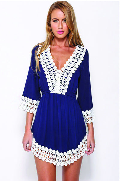 High Waisted Lace Playsuit - Clothing - XANA's Boutique