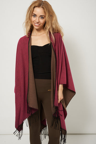 Reversible Knitted Poncho