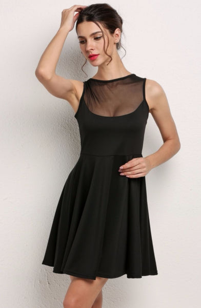 Sleeveless Mesh Patchwork Sundress - XANA's Boutique  - 1