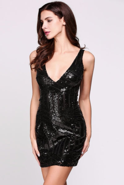 Bodycon Sequin Mini Dress