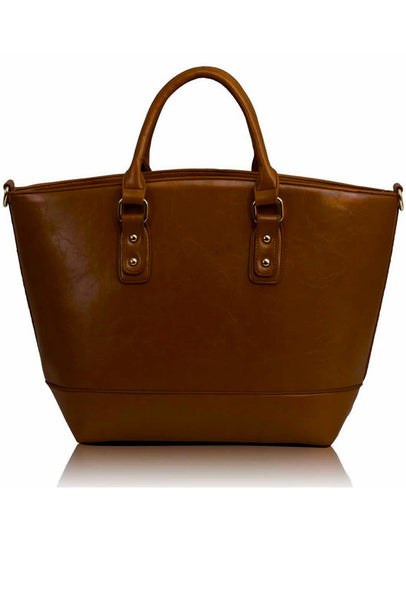 Classic Leather Tote Bag - Bags - XANA's Boutique