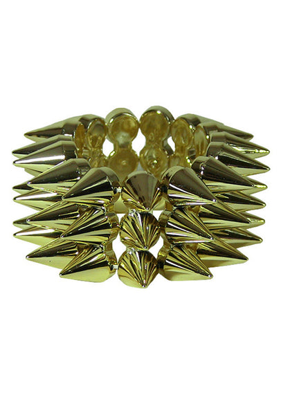 Three Row Spiked Bracelet