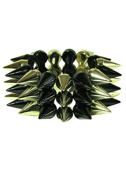 Three Row Spiked Bracelet - Accessories - XANA's Boutique
