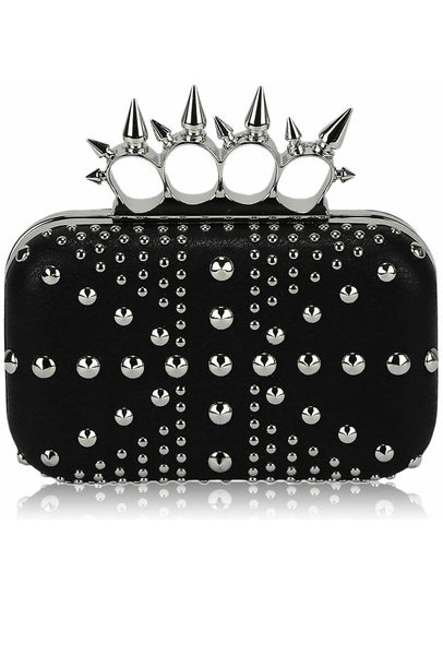 Exclusive Studded Black Union Jack Clutch Purse