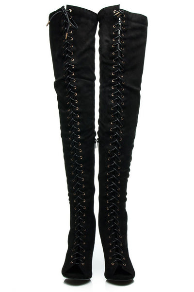 Thigh High Musketeer Heel Boots