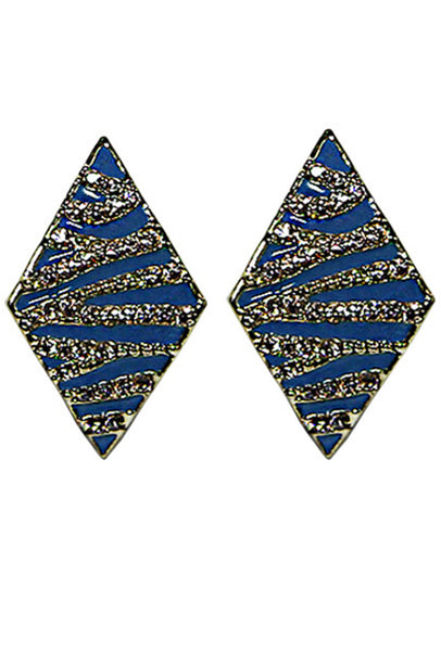 Rhombus Rhinestone Stud Earrings