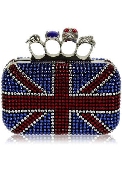 Exclusive Diamond Encrusted Union Jack Clutch Purse