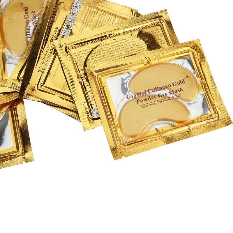 Gold eye masks