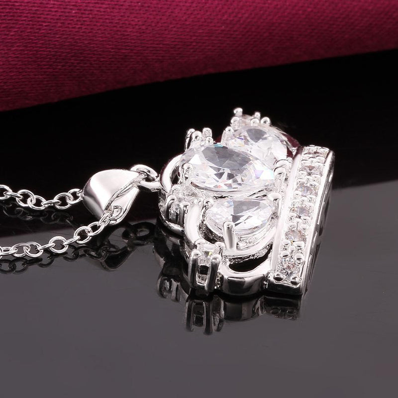 Swarovski crystal Princess Crown Necklace