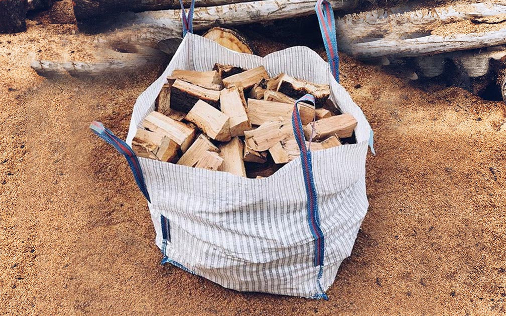 Dumpy bag kiln dried hardwood logs