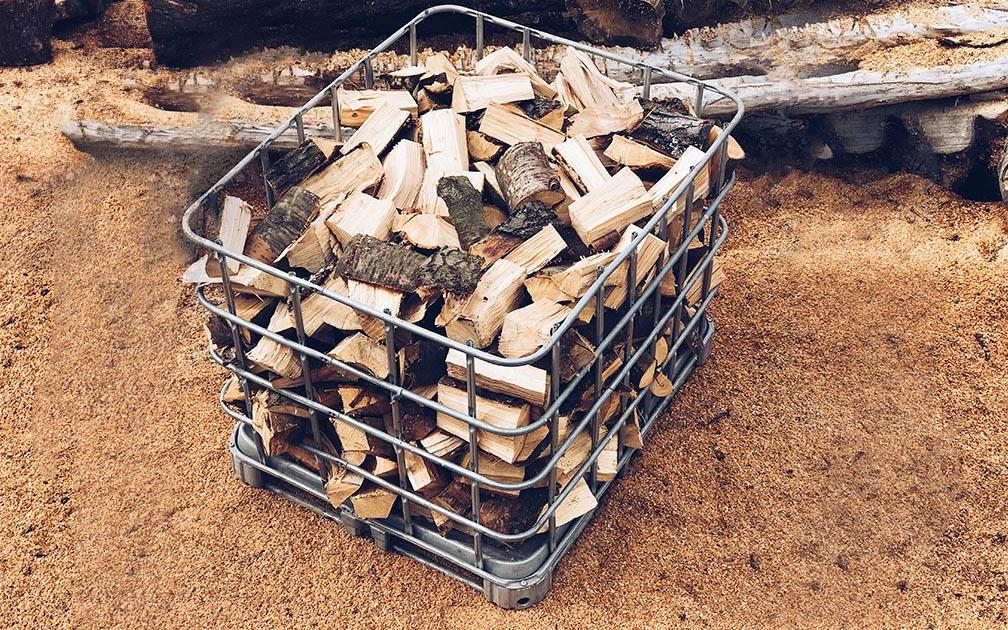 1m3 Kiln Dried local hardwood firewood logs