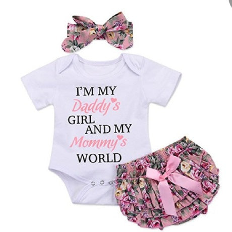 "Three piece ""I'm my daddy's girl......."" outfit"
