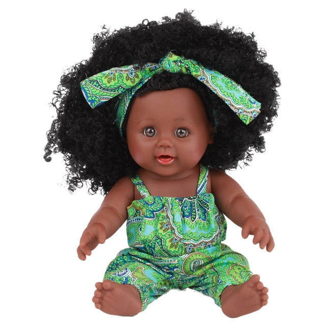 30cm 12inch Cute Toys Play Black Baby Doll Lifelike Birthday Gift Children Soft Vinyl Realistic For Kids Reborn Home African