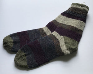 Striped Socks Ladies: 10-13 Mens: 12-13
