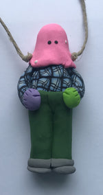Load image into Gallery viewer, Hanging Polymer Clay Mummer