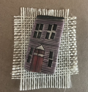 Pottery Row House Brooch