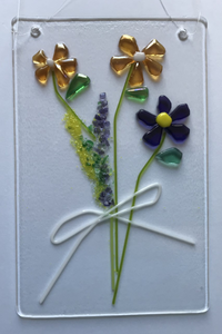 Fused Glass Flowers
