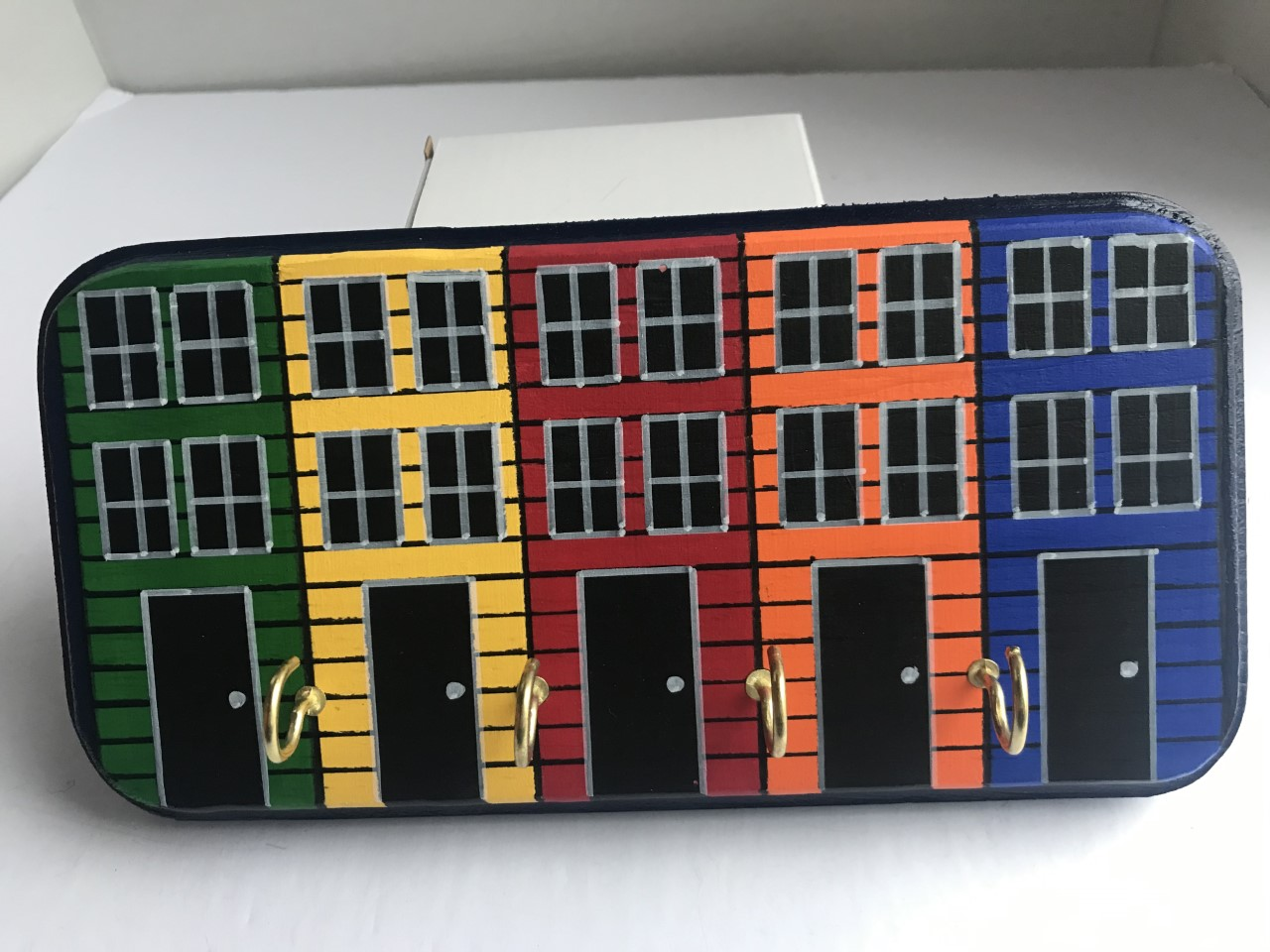 Row House Wooden Key Holder