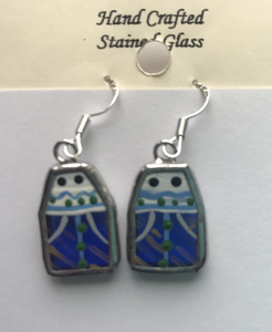 Stained Glass Mummer Earrings