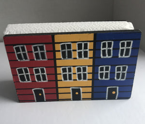 Row House Wooden Napkin Holder