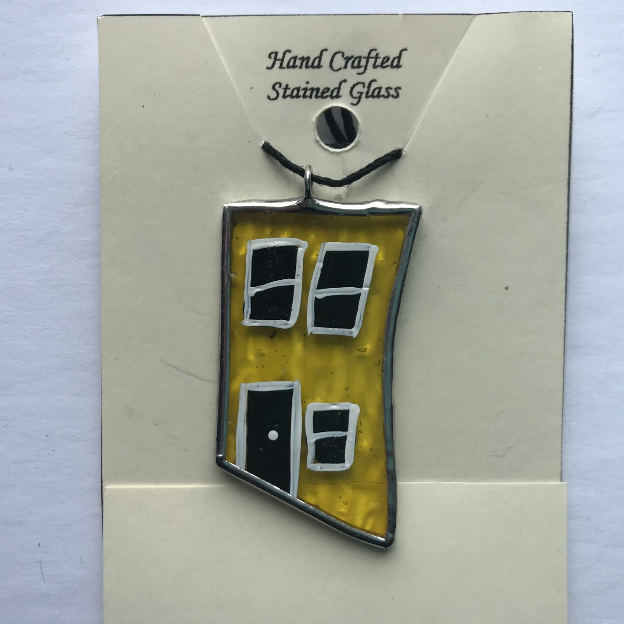 Stained Glass Row House Pendant