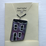 Load image into Gallery viewer, Stained Glass Row House Pendant