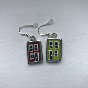 Stained Glass Row House Earrings