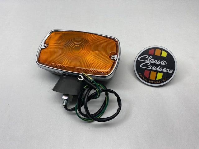 FJ40 1970-1974  Front Indicator Light (New OEM Oval Amber)
