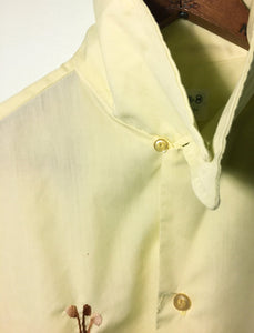 Vintage Yellow Button-Up Golf Shirt, Medium