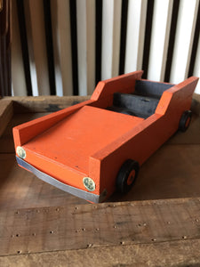 Vintage Wooden Sports Car, Handmade