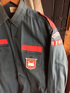 Vintage 40s/50s Christian Brigade Military Style Button-up
