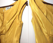 Load image into Gallery viewer, Vintage 1950s Golden Yellow Formal Dress, Suzy Perette New York