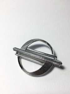Vintage Sara Hoon Brooch, Abstract. Silver Coloured Pin Back Jewelry. Made in Canada.