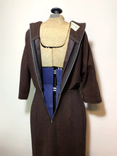 Load image into Gallery viewer, Vintage 50s/60s Brown Wiggle Dress, Gladys Lee