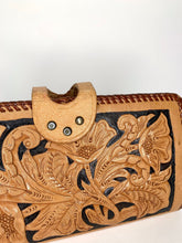 Load image into Gallery viewer, Vintage Hand Tooled Leather Wallet