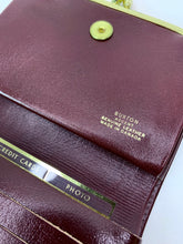 Load image into Gallery viewer, Vintage Burgundy & Grey Leather Buxton Wallet