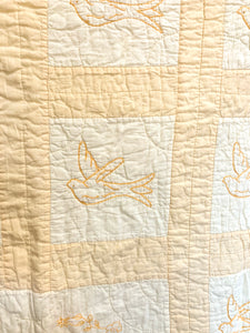 Vintage Yellow Bird Quilt
